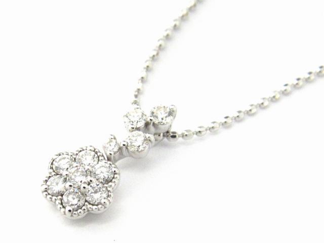 【送料無料】 JEWELRY(ジュエリー) ダイヤモンド ネックレス ネックレス K18WG(750) ホワイトゴールド x ダイヤモンド0.23ct 【新品】 | JEWELRY ネックレス K18 18K 18金 ダイヤ ダイヤモンド 新品 ブランドオフ BRANDOFF ボーナス