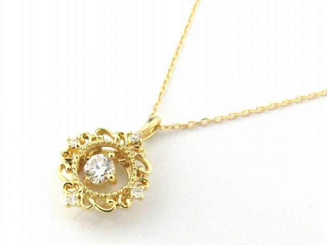 【送料無料】 JEWELRY(ジュエリー) ダイヤモンド ネックレス ネックレス K18YG(750) イエローゴールド x ダイヤモンド0.13ct 【新品】 | JEWELRY ネックレス K18 18K 18金 ダイヤ ダイヤモンド 新品 ブランドオフ BRANDOFF ボーナス