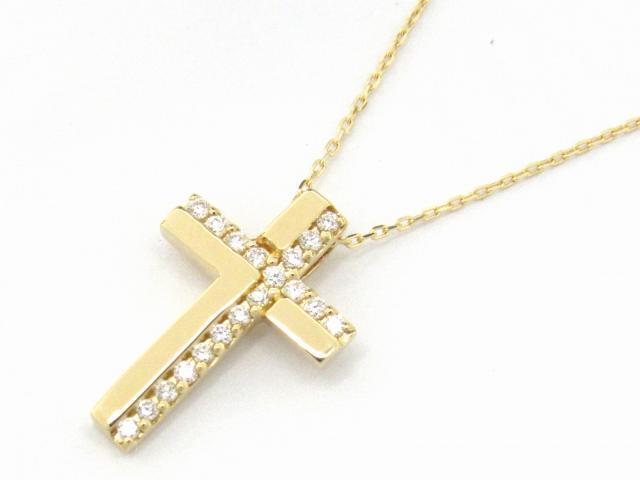 【送料無料】 JEWELRY(ジュエリー) クロスダイヤモンド ネックレス ネックレス K18YG(750) イエローゴールド x ダイヤモンド0.11ct 【新品】 | JEWELRY ネックレス K18 18K 18金 ダイヤ ダイヤモンド 新品 ブランドオフ BRANDOFF ボーナス