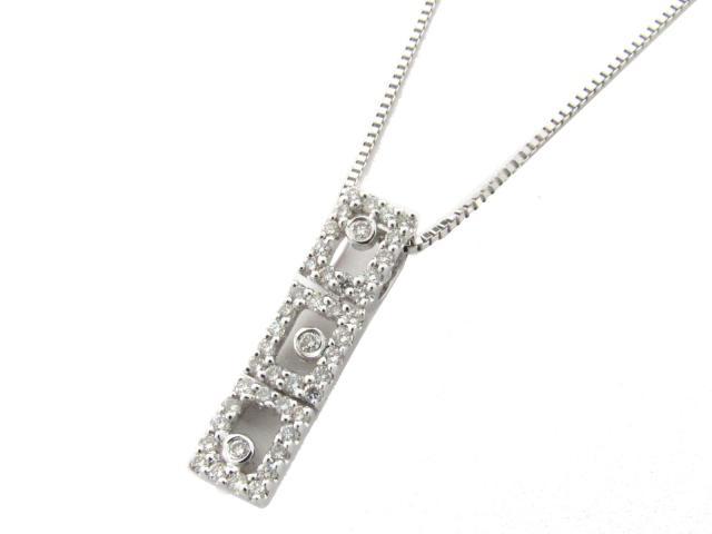 【送料無料】 JEWELRY(ジュエリー) ダイヤモンド ネックレス ネックレス K18WG(750) ホワイトゴールド x ダイヤモンド(0.30ct) 【新品】   JEWELRY ネックレス K18 18K 18金 ダイヤ ダイヤモンド 新品 ブランドオフ BRANDOFF ボーナス