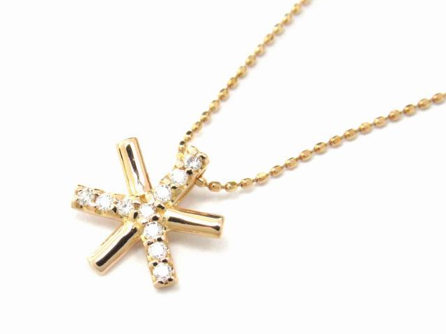 【送料無料】 JEWELRY(ジュエリー) ダイヤモンド ネックレス ネックレス K18PG(750) ピンクゴールド x ダイヤモンド0.10ct 【新品】 | JEWELRY ネックレス K18 18K 18金 ダイヤ ダイヤモンド 新品 ブランドオフ BRANDOFF ボーナス