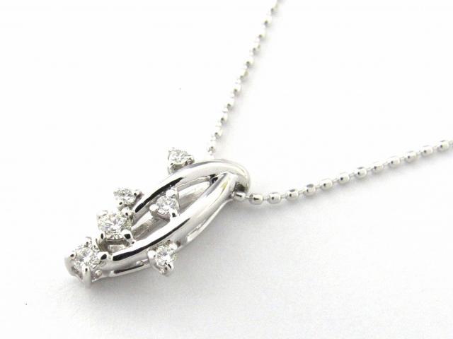【送料無料】 JEWELRY(ジュエリー) ダイヤモンド ネックレス ネックレス シルバー K18WG(750) ホワイトゴールド x ダイヤモンド0.11ct 【新品】 | JEWELRY ネックレス K18 18K 18金 ダイヤ ダイヤモンド 新品 ブランドオフ BRANDOFF ボーナス