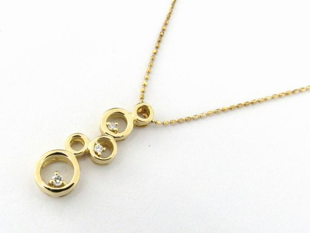 【送料無料】 JEWELRY(ジュエリー) ダイヤモンド ネックレス ネックレス ゴールド K18YG(750) イエローゴールド x ダイヤモンド0.04ct 【新品】 | JEWELRY ネックレス K18 18K 18金 ダイヤ ダイヤモンド 新品 ブランドオフ BRANDOFF ボーナス