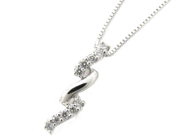 【送料無料】 JEWELRY(ジュエリー) ダイヤモンド ネックレス ネックレス クリアー K18WG(750) ホワイトゴールド x ダイヤモンド(0.10ct) 【新品】 | JEWELRY ネックレス K18 18K 18金 ダイヤ ダイヤモンド 新品 ブランドオフ BRANDOFF ボーナス