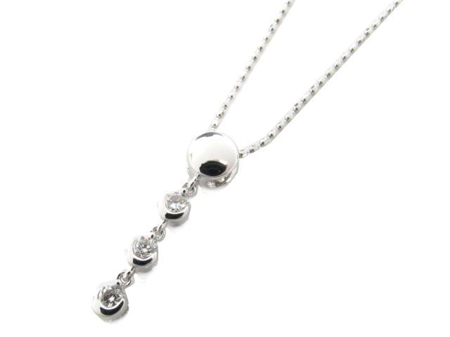 BRANDOFF x K18 ダイヤモンド(0.15ct) ダイヤモンド JEWELRY(ジュエリー) JEWELRY 18金 【送料無料】 クリアー ネックレス ホワイトゴールド ブランドオフ ダイヤモンド 新品 ボーナス | 【新品】 ネックレス ネックレス 18K ダイヤ K18WG(750)