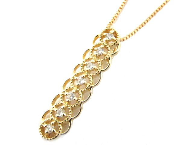 【送料無料】 JEWELRY(ジュエリー) ダイヤモンド ネックレス ネックレス ゴールド K18YG(750) イエローゴールド x ダイヤモンド(0.07ct) 【新品】 | JEWELRY ネックレス K18 18K 18金 ダイヤ ダイヤモンド 新品 ブランドオフ BRANDOFF ボーナス