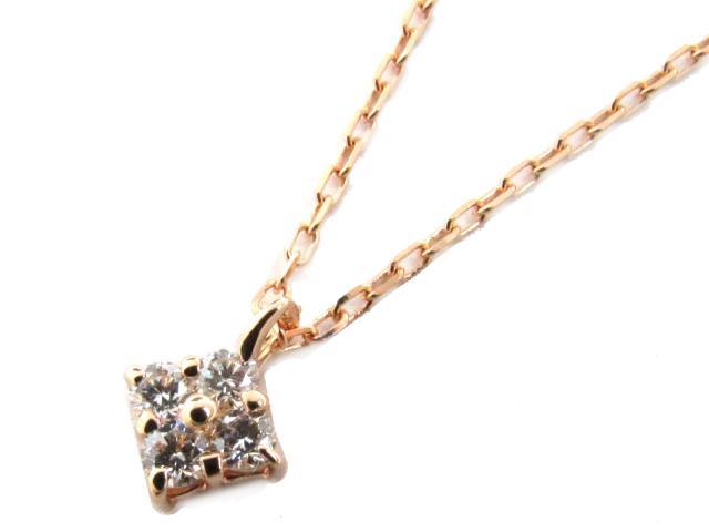 【送料無料】 JEWELRY(ジュエリー) ダイヤモンド ネックレス ネックレス クリアー K18PG(750) ピンクゴールド x ダイヤモンド(0.13ct) 【新品】   JEWELRY ネックレス K18 18K 18金 ダイヤ ダイヤモンド 新品 ブランドオフ BRANDOFF ボーナス