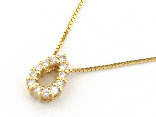 【送料無料】 ジュエリー ダイヤモンド ネックレス レディース K18YG(750) イエローゴールド x ダイヤモンド0.10ct | JEWELRY ネックレス K18 18K 18金 ダイヤ ダイヤモンド ブランドオフ BRANDOFF ボーナス