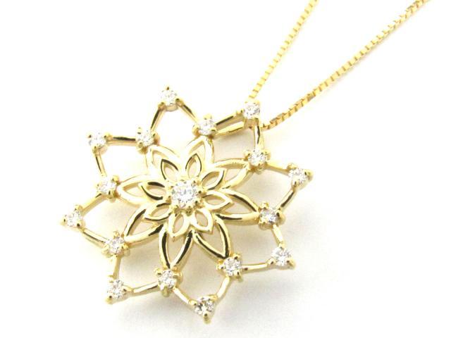 【送料無料】 ジュエリー ダイヤモンド ネックレス レディース K18YG(750) イエローゴールド x ダイヤモンド(0.20ct) | JEWELRY ネックレス K18 18K 18金 ダイヤ ダイヤモンド ブランドオフ BRANDOFF ボーナス