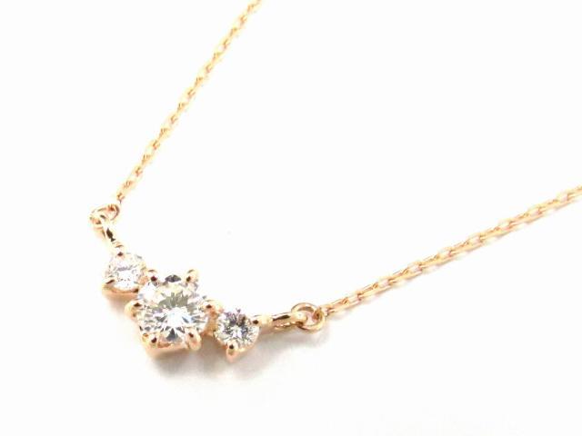 【送料無料】 ジュエリー ダイヤモンド ネックレス レディース K18PG(750) ピンクゴールド x ダイヤモンド0.14ct | JEWELRY ネックレス K18 18K 18金 ダイヤ ダイヤモンド ブランドオフ BRANDOFF ボーナス