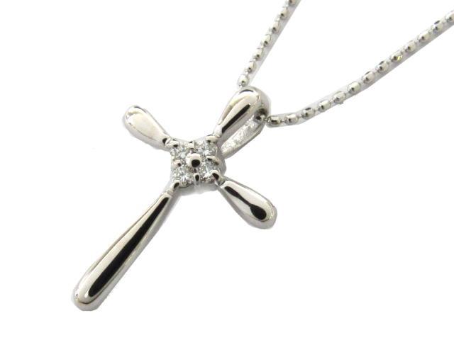ジュエリー ダイヤモンド ネックレス レディース K18WG(750) ホワイトゴールド x ダイヤモンド(0.06ct) | JEWELRY ネックレス K18 18K 18金 ダイヤ ダイヤモンド ブランドオフ BRANDOFF ボーナス