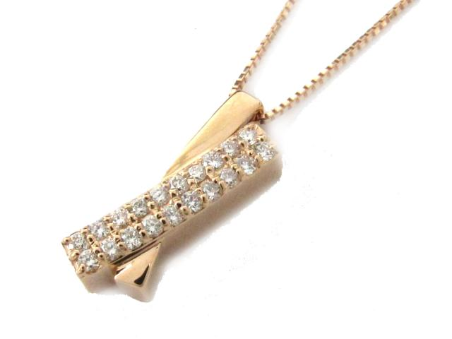 【送料無料】 ジュエリー ダイヤモンド ネックレス レディース K18PG(750) ピンクゴールド x ダイヤモンド(0.17ct) | JEWELRY ネックレス K18 18K 18金 ダイヤ ダイヤモンド ブランドオフ BRANDOFF ボーナス