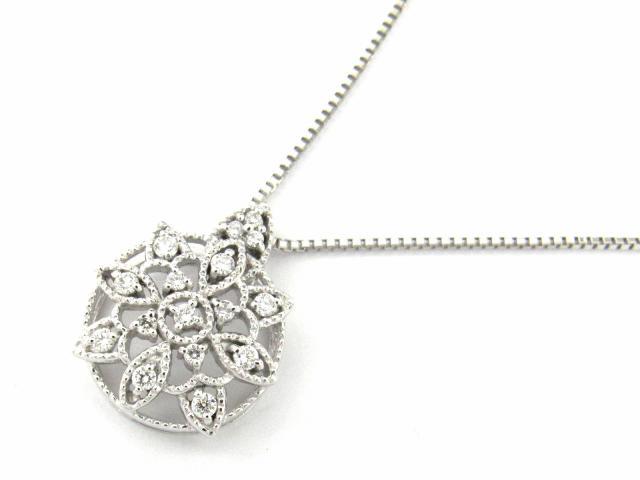 【送料無料】 ジュエリー ダイヤモンド ネックレス レディース K18WG(750) ホワイトゴールド x ダイヤモンド0.20ct   JEWELRY ネックレス K18 18K 18金 ダイヤ ダイヤモンド ブランドオフ BRANDOFF ボーナス