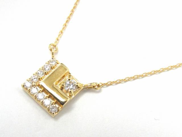 【送料無料】 ジュエリー ダイヤモンド ネックレス レディース K18YG(750) イエローゴールド x ダイヤモンド0.19ct | JEWELRY ネックレス K18 18K 18金 ダイヤ ダイヤモンド ブランドオフ BRANDOFF ボーナス
