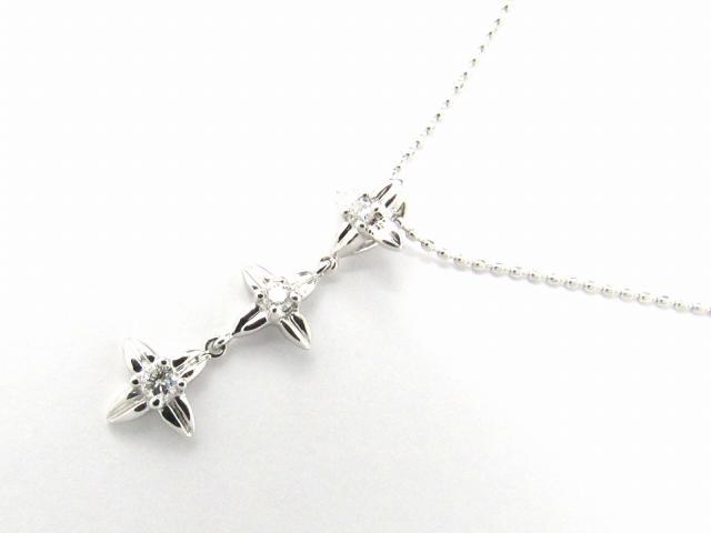 【送料無料】 ジュエリー ダイヤモンド ネックレス レディース K18WG(750) ホワイトゴールド x ダイヤモンド0.12ct | JEWELRY ネックレス K18 18K 18金 ダイヤ ダイヤモンド ブランドオフ BRANDOFF ボーナス