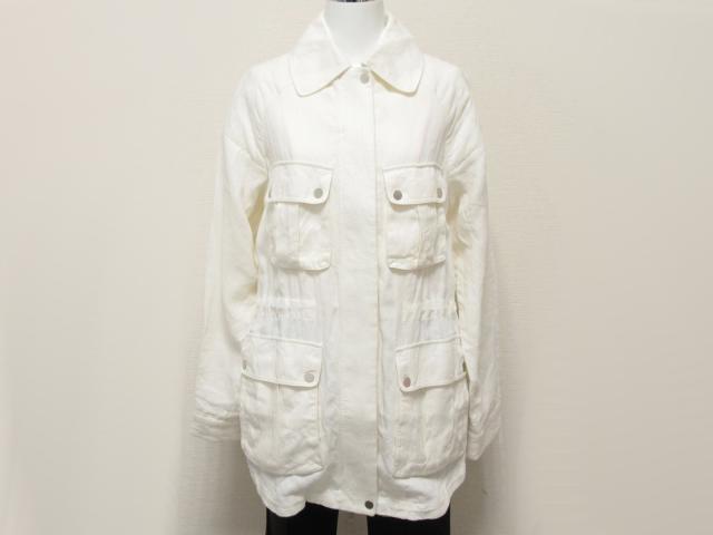 【中古】ジョゼフ ブルゾン レディース リネン ホワイト系 | SELECTION 衣類 ジョセフ ジップコート Used A ブランド ブランドオフ BRANDOFF