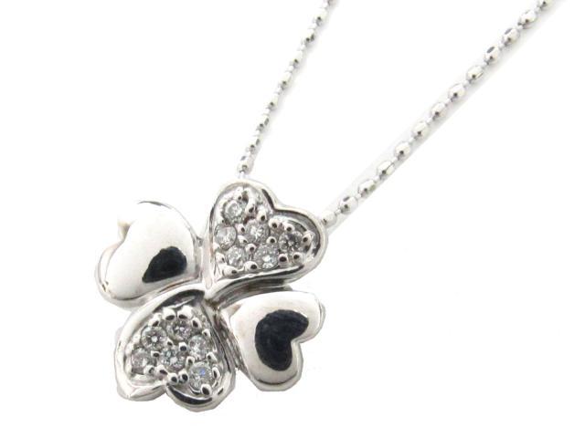 【送料無料】 ジュエリー ダイヤモンド ネックレス レディース K18WG(750) ホワイトゴールド x ダイヤモンド(0.08ct) | JEWELRY ネックレス K18 18K 18金 ダイヤ ダイヤモンド ブランドオフ BRANDOFF ボーナス