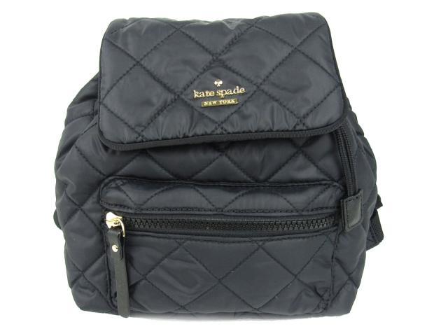 ケイトスペード リュックサック バックパック レディース ナイロン x レザー ブラック (P x RU7105001)   kate spade リュックサック バッグ バック BAG 鞄 カバン ブランドバッグ 新品 ブランド ブランドオフ BRANDOFF