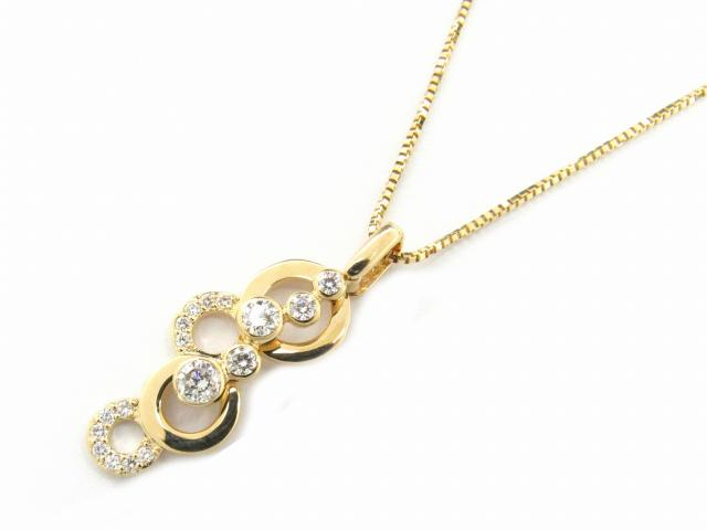 【送料無料】 ジュエリー ダイヤモンド ネックレス レディース K18YG(750) イエローゴールド x ダイヤモンド0.45ct | JEWELRY ネックレス K18 18K 18金 ダイヤ ダイヤモンド 新品 ブランドオフ BRANDOFF ボーナス