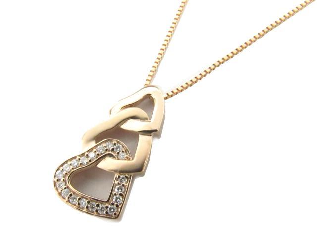 【送料無料】 ジュエリー ハート ダイヤモンド ネックレス レディース K18PG(750) ピンクゴールド x ダイヤモンド(0.17ct) | JEWELRY ネックレス K18 18K 18金 ダイヤ ダイヤモンド 新品 ブランドオフ BRANDOFF ボーナス