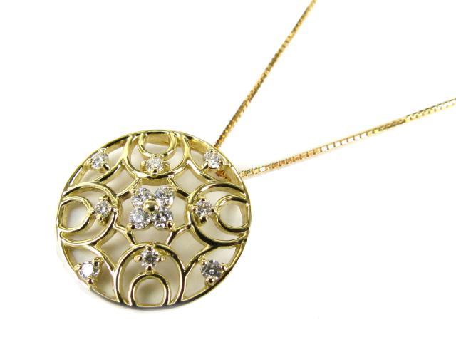 【送料無料】 ジュエリー ダイヤモンド ネックレス レディース K18YG(750) イエローゴールド x ダイヤモンド(0.22ct) | JEWELRY ネックレス K18 18K 18金 ダイヤ ダイヤモンド 新品 ブランドオフ BRANDOFF ボーナス