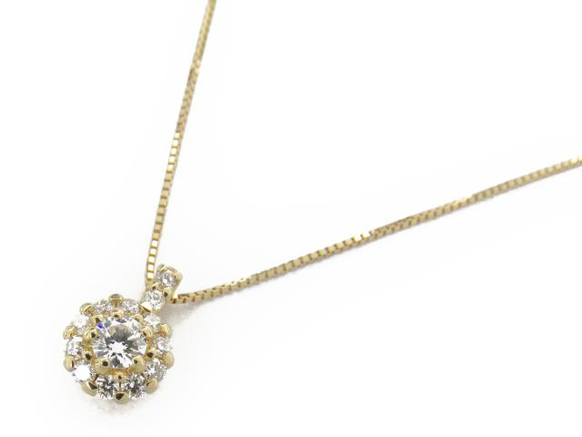 【送料無料】 ジュエリー ダイヤモンド ネックレス レディース K18YG(750) イエローゴールド x ダイヤモンド0.30ct | JEWELRY ネックレス K18 18K 18金 ダイヤ ダイヤモンド 新品 ブランドオフ BRANDOFF ボーナス