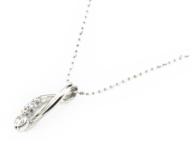 【送料無料】 ジュエリー ダイヤモンド ネックレス レディース K18WG(750) ホワイトゴールド x ダイヤモンド0.13ct | JEWELRY ネックレス K18 18K 18金 ダイヤ ダイヤモンド 新品 ブランドオフ BRANDOFF ボーナス