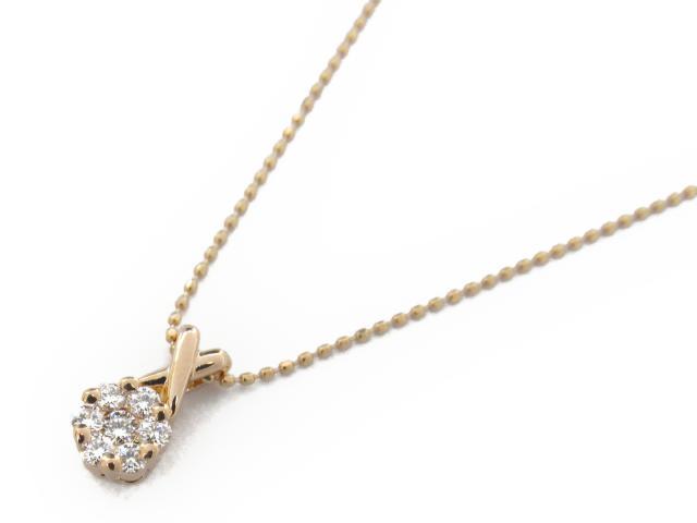 【送料無料】 ジュエリー ダイヤモンド ネックレス レディース K18PG(750) ピンクゴールド x ダイヤモンド0.21ct   JEWELRY ネックレス K18 18K 18金 ダイヤ ダイヤモンド 新品 ブランドオフ BRANDOFF ボーナス