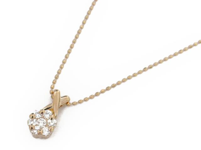 【送料無料】 ジュエリー ダイヤモンド ネックレス レディース K18PG(750) ピンクゴールド x ダイヤモンド0.21ct | JEWELRY ネックレス K18 18K 18金 ダイヤ ダイヤモンド 新品 ブランドオフ BRANDOFF ボーナス