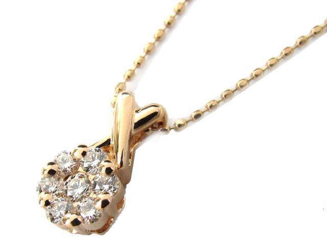 【送料無料】 ジュエリー ダイヤモンド ネックレス レディース K18PG(750) ピンクゴールド x ダイヤモンド(0.21ct) | JEWELRY ネックレス K18 18K 18金 ダイヤ ダイヤモンド 新品 ブランドオフ BRANDOFF ボーナス