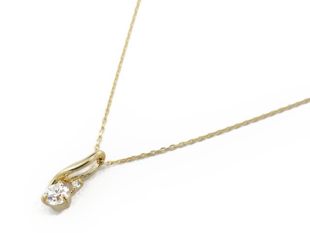 【送料無料】 ジュエリー ダイヤモンド ネックレス レディース K18YG(750) イエローゴールド x ダイヤモンド0.18ct | JEWELRY ネックレス K18 18K 18金 ダイヤ ダイヤモンド 新品 ブランドオフ BRANDOFF ボーナス