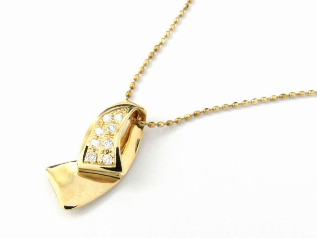 【送料無料】 ジュエリー ダイヤモンド ネックレス レディース K18YG(750) イエローゴールド x ダイヤモンド0.07ct | JEWELRY ネックレス K18 18K 18金 ダイヤ ダイヤモンド 新品 ブランドオフ BRANDOFF ボーナス