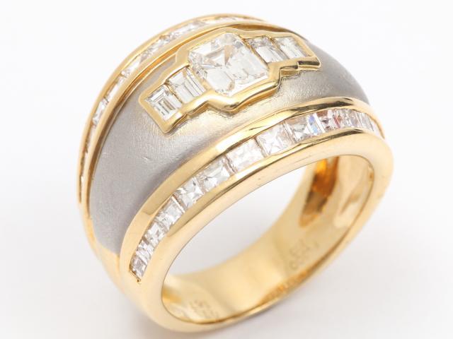 【中古】【送料無料】JEWELRY(ジュエリー) ダイヤモンド リング 指輪 リング クリアー K18YG(750) イエローゴールドx Pt900 x ダイヤモンド(0.73ct 1.67ct) 13号 | JEWELRY リング ダイヤ ダイヤモンドリング リング K18 18K 18金 ブランドオフ BRANDOFF 美品 ボーナス