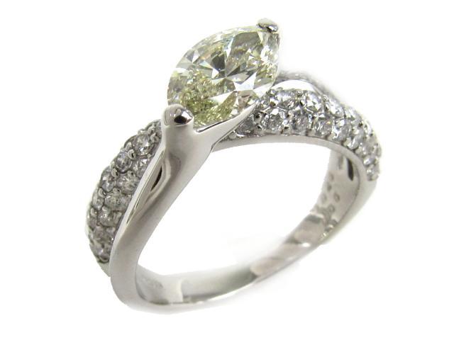 【中古】【送料無料】ジュエリー ダイヤモンド リング 指輪 レディース PT900 プラチナ x ダイヤモンド(1.025ct 0.86ct) ライトイエロー | JEWELRY リング リング ダイヤ ダイヤモンド 美品 ブランドオフ BRANDOFF 美品 ボーナス