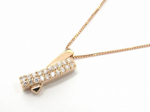 【送料無料】 ジュエリー ダイヤモンド ネックレス レディース K18PG(750) ピンクゴールド x ダイヤモンド0.17ct | JEWELRY ネックレス K18 18K 18金 ダイヤ ダイヤモンド 新品 ブランドオフ BRANDOFF ボーナス