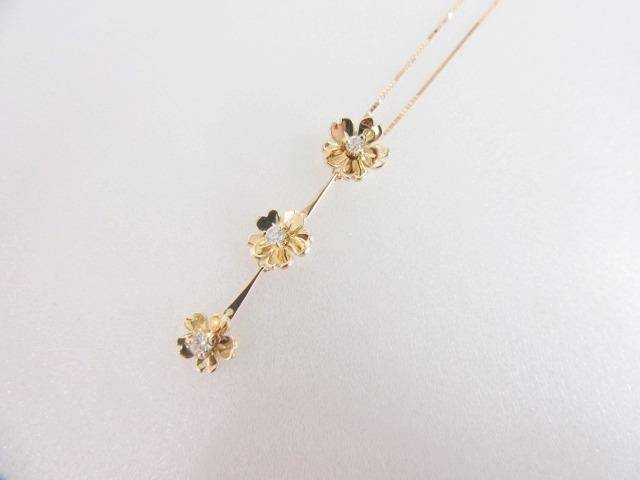 【送料無料】 ジュエリー ネックレス ダイヤモンド レディース K18YG(750) イエローゴールド | JEWELRY ネックレス K18 18K 18金 ダイヤ ダイヤモンド 新品 ブランドオフ BRANDOFF ボーナス