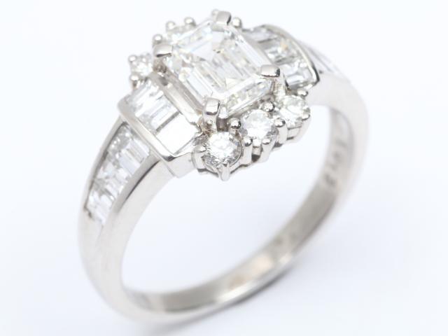 【中古】【送料無料】ジュエリー ダイヤモンド リング 指輪 レディース PT900 プラチナx ダイヤモンド(1.012ct 1.17ct) | JEWELRY リング リング ダイヤ ダイヤモンド 美品 ブランドオフ BRANDOFF 美品 ボーナス