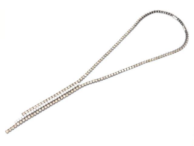 【中古】【送料無料】ジュエリー ダイヤモンド ネックレス レディース K18WG(750) ホワイトゴールドx ダイヤモンド(50.05ct) | JEWELRY ネックレス K18 18K 18金 ダイヤ ダイヤモンド 美品 ブランドオフ BRANDOFF 美品 ボーナス