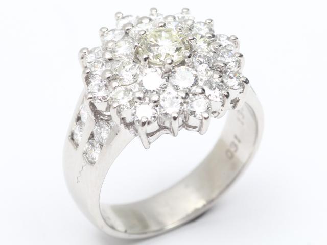 【中古】【送料無料】ジュエリー ダイヤモンド リング 指輪 レディース K18WG(750) ホワイトゴールドx ダイヤモンド(0.31ct 1.33ct) | JEWELRY リング リング K18 18K 18金 ダイヤ ダイヤモンド 美品 ブランドオフ BRANDOFF 美品 ボーナス