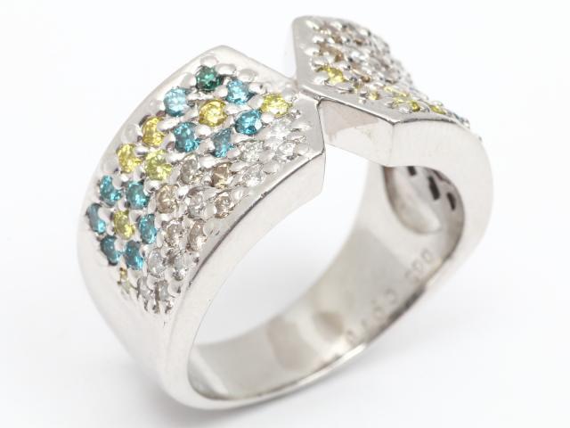 【中古】【送料無料】ジュエリー ダイヤモンド リング 指輪 レディース PT850 プラチナx ダイヤモンド(0.70ct) | JEWELRY リング リング ダイヤ ダイヤモンド 美品 ブランドオフ BRANDOFF 美品 ボーナス