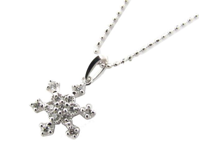 【送料無料】 ジュエリー ダイヤモンド ネックレス レディース K18WG(750) ホワイトゴールド x ダイヤモンド(0.15ct) | JEWELRY ネックレス K18 18K 18金 ダイヤ ダイヤモンド 新品 ブランドオフ BRANDOFF ボーナス
