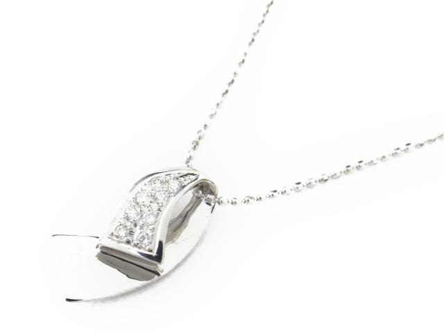 【送料無料】 ジュエリー ダイヤモンド ネックレス レディース K18WG(750) ホワイトゴールド x ダイヤモンド0.07ct   JEWELRY ネックレス K18 18K 18金 ダイヤ ダイヤモンド 新品 ブランドオフ BRANDOFF ボーナス
