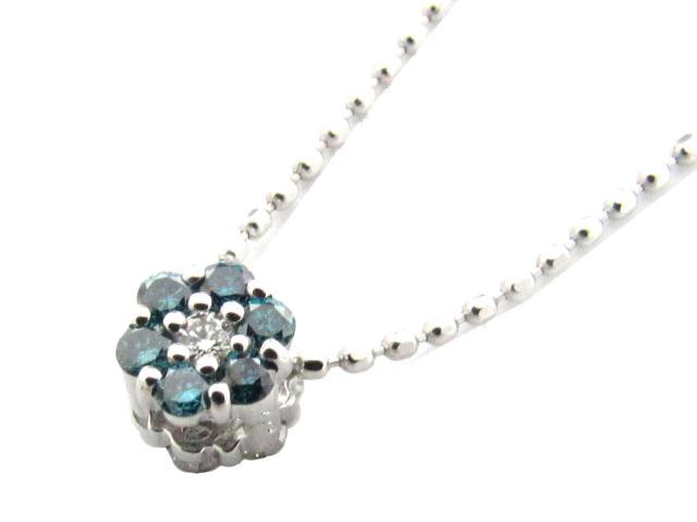 【送料無料】 ジュエリー ダイヤモンド ネックレス レディース K18WG(750) ホワイトゴールド x ダイヤモンド(0.22ct) | JEWELRY ネックレス K18 18K 18金 ダイヤ ダイヤモンド 新品 ブランドオフ BRANDOFF ボーナス
