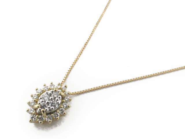 【送料無料】 ジュエリー ダイヤモンド ネックレス レディース PT900 プラチナ x ダイヤモンド0.33ct x K18YG(イエローゴールド) | JEWELRY ネックレス K18 18K 18金 ダイヤ ダイヤモンド 新品 ブランドオフ BRANDOFF ボーナス