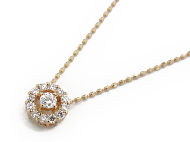 【送料無料】 ジュエリー ダイヤモンド ネックレス レディース K18PG(750) ピンクゴールド x ダイヤモンド0.20ct | JEWELRY ネックレス K18 18K 18金 ダイヤ ダイヤモンド 新品 ブランドオフ BRANDOFF ボーナス