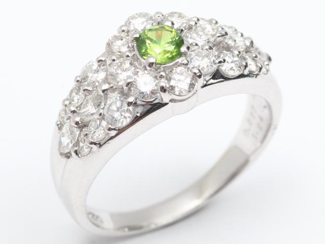 【中古】【送料無料】ジュエリー デマイントイドガーネット ダイヤモンド リング 指輪 レディース PT900 プラチナx デマイントイドガーネット x ダイヤモンド(1.24ct) | JEWELRY リング リング ダイヤ ダイヤモンド 美品 ブランドオフ BRANDOFF 美品 ボーナス
