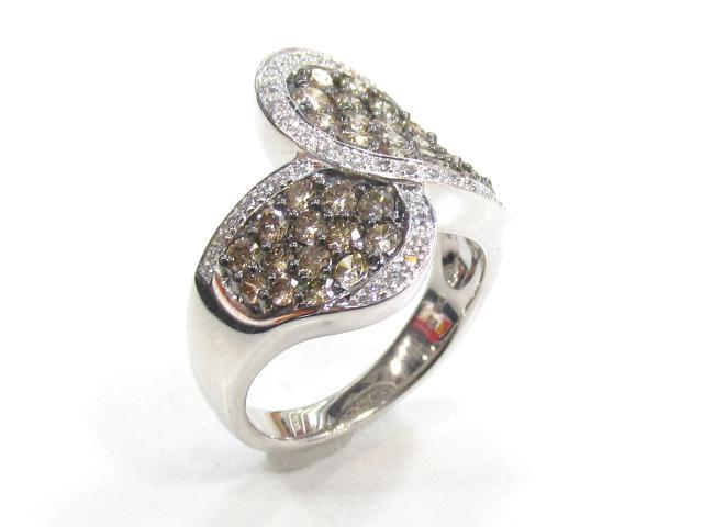 【中古】【送料無料】ジュエリー ダイヤモンド リング 指輪 レディース K18WG(750) ホワイトゴールド×ダイヤモンド(1.62ct) | JEWELRY リング リング K18 18K 18金 ダイヤ ダイヤモンド 美品 ブランドオフ BRANDOFF 美品 ボーナス