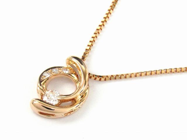 【送料無料】 ジュエリー ダイヤモンド ネックレス レディース K18PG(750) ピンクゴールド x ダイヤモンド0.15ct | JEWELRY ネックレス K18 18K 18金 ダイヤ ダイヤモンド 新品 ブランドオフ BRANDOFF ボーナス