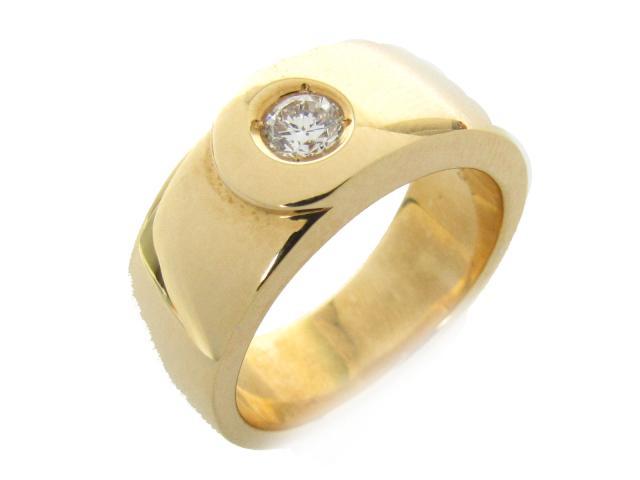 【中古】【送料無料】ジュエリー ダイヤモンド リング 指輪 レディース K18YG(750) イエローゴールド x ダイヤモンド(0.255ct) | JEWELRY リング リング K18 18K 18金 ダイヤ ダイヤモンド 美品 ブランドオフ BRANDOFF 美品 ボーナス