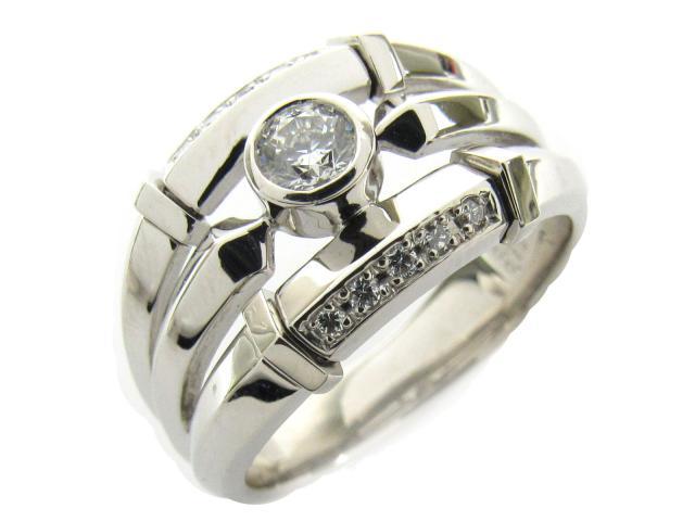 【中古】【送料無料】ジュエリー ダイヤモンド リング 指輪 レディース PT900 プラチナ x ダイヤモンド(0.321ct 0.100ct) | JEWELRY D0.321/0.100 ブランドオフ BRANDOFF 美品 ボーナス